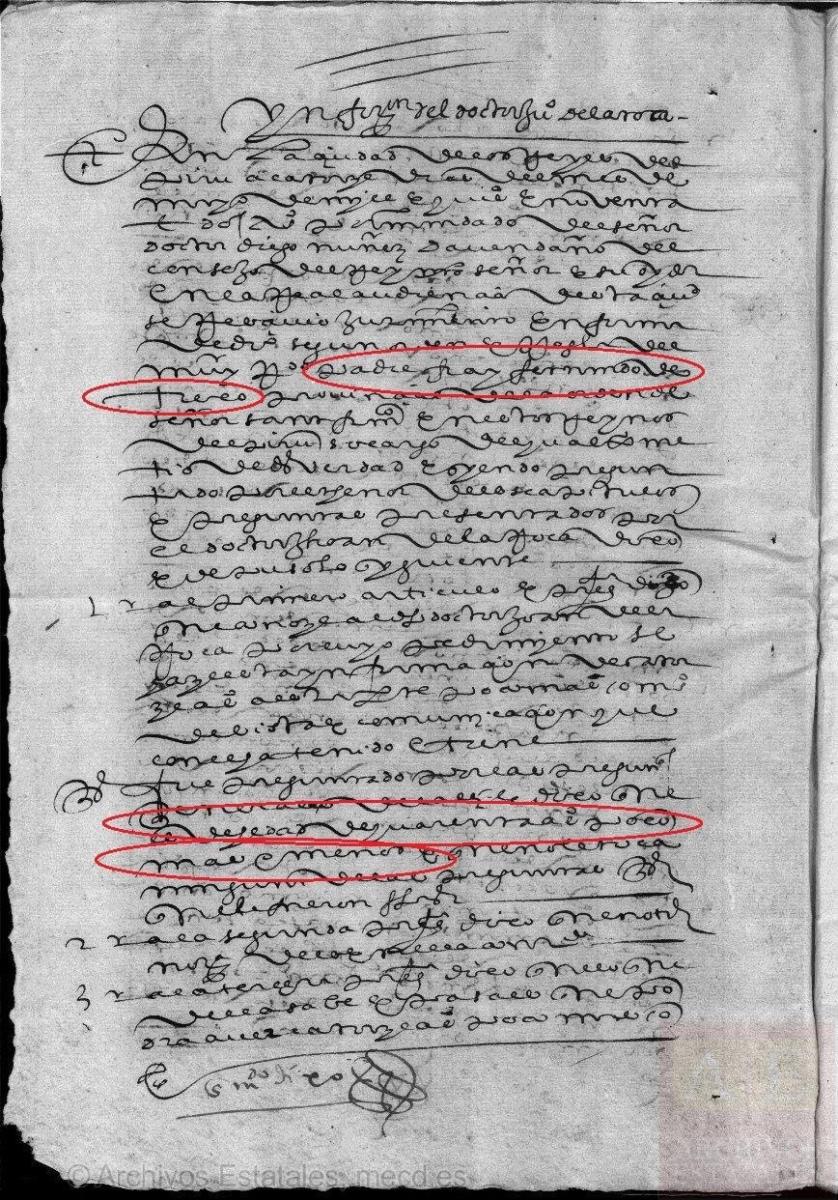 Documento Histórico Nascimento Hermano de Trejo y Sanabria